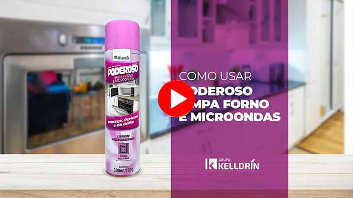 Poderoso Limpa Forno e Micro-ondas